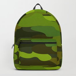 Camo-licious Collection: Wild Jungle Green Camouflage Pattern Backpack