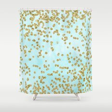 Awesome Teal And Gold Shower Curtain Ideas - 3D house designs ...