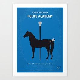 No1010 My Police Academy minimal movie poster Art Print