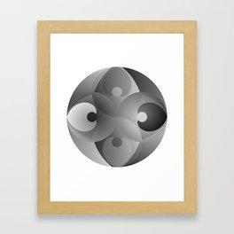 B/W Balance Framed Art Print