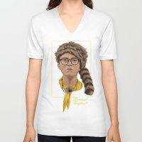 moonrise kingdom V-neck T-shirts featuring Moonrise Kingdom by Soren Barton