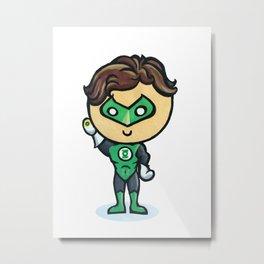 Green Lantern Chibi Metal Print
