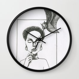 Here Comes The Bat Wall Clock