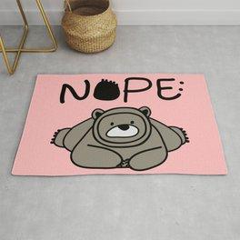 NOPE polar bear Rug