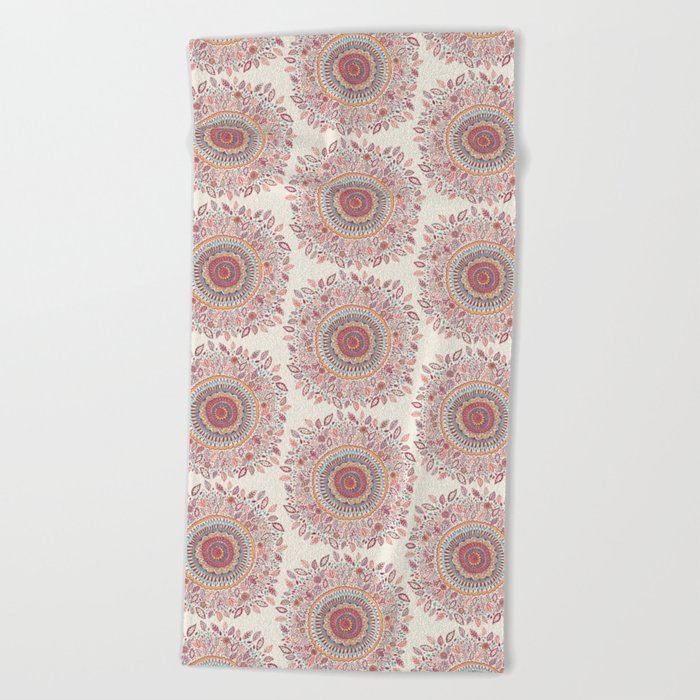 Sunflower Mandala Beach Towel