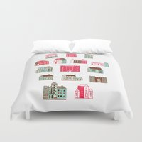ali Duvet Covers featuring Places to rent by Marcelo Romero