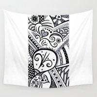 zentangle Wall Tapestries featuring Zentangle by Wealie