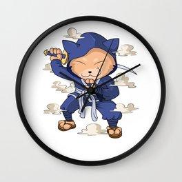 Cat Ninja Japan Fans Manga Birthday Wall Clock