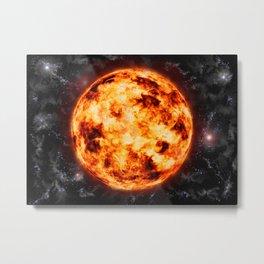 Sun-Space Metal Print