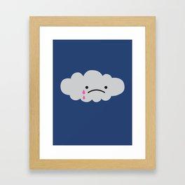 Sad Rain Cloud Framed Art Print