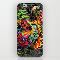 jazzberry iPhone & iPod Skins featuring Just another day in the jungle by Donuts