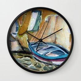Italian Riviera Row Boat Wall Clock