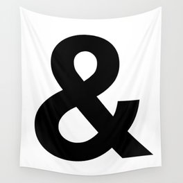 Ampersand Black and White Helvetica Typography Design Poster Home Decor Wall Art Scandinavian Decor Wall Tapestry