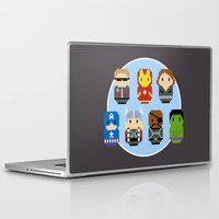 avenger Laptop & iPad Skins featuring Pixel Art - Avenger parody by Cloudsfactory
