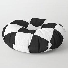 Black and white diamond pattern, geometric pattern Floor Pillow