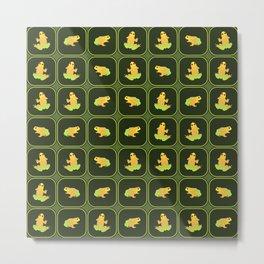 Frogs pattern Metal Print