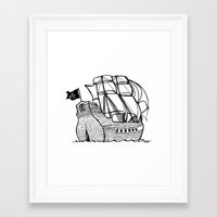 pirate ship Framed Art Prints featuring Pirate Ship by Addison Karl