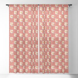 FAST FOOD / Egg and Bacon - pattern Sheer Curtain