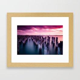 Princes Pier, Melbourne Framed Art Print