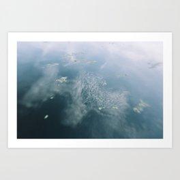 Sky in the water Art Print