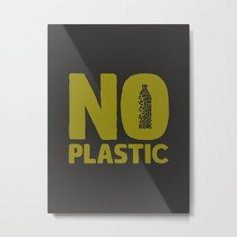 No plastic Metal Print