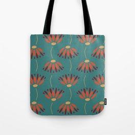 Dueling Flower Pattern Tote Bag