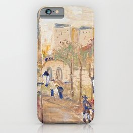 Back Alleyways, Italy floral portrait by Lajos Gulácsy iPhone Case