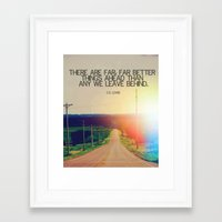 cs lewis Framed Art Prints featuring CS LEWIS QUOTE by Nina Ainembabazi