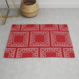 Classic Red Bandana Large Patches Rug