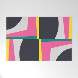 Modern Geometric 65 Pink Welcome Mat