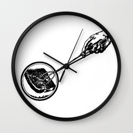 Making Toast by Fire Wall Clock