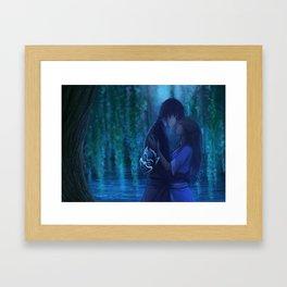 Zutara - Blue Velvet Framed Art Print