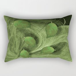 Leaves blowing in the wind Rectangular Pillow