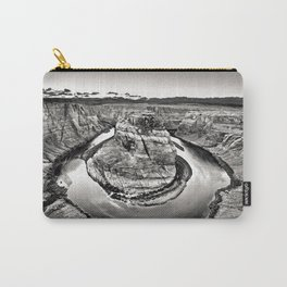 Horseshoe Bend Arizona Black and White Carry-All Pouch