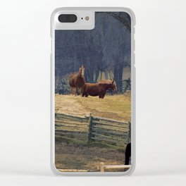 Wilderness Horse Ranch Clear iPhone Case