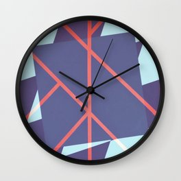 Leaf - diamond graphic Wall Clock