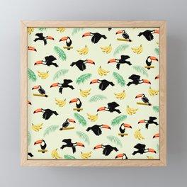 Toucan tropical pattern Framed Mini Art Print