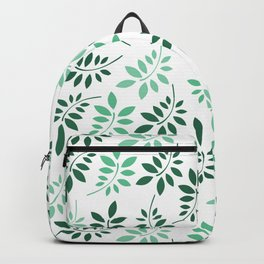 Abstract neo mint forest green foliage geenery pattern Backpack
