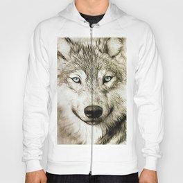 Smokey Sketched Wolf Hoody