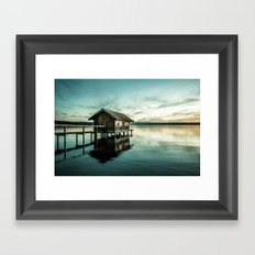 The house at the lake Framed Art Print