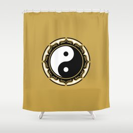 Yin Yang Lotus Shower Curtain