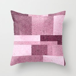 Pink Squared Throw Pillow