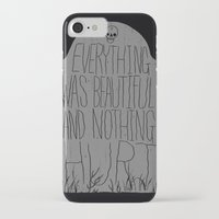 vonnegut iPhone & iPod Cases featuring slaughterhouse V - everything was beautiful - vonnegut by miles to go
