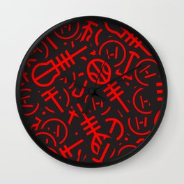 TØP Stickers - Red Wall Clock