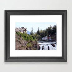 Top of the Falls Framed Art Print