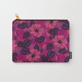 Hibiscus night Carry-All Pouch
