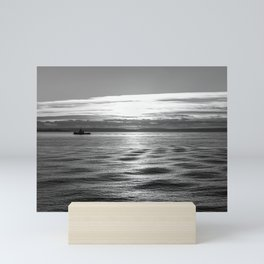 Crisscrossing Waves Mini Art Print