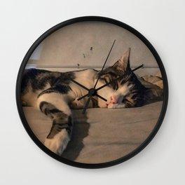The sleeping cat Wall Clock