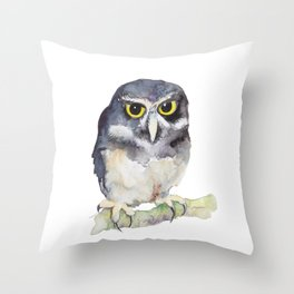 Spectacled Owl Throw Pillow