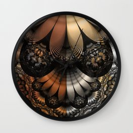 Autumn Fractal Pheasant Feathers in DaVinci Style Wall Clock